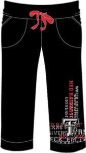 Texas Tech Womens Flocked Drawstring Pants