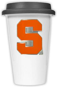NCAA Syracuse Orange Ceramic Cup w/Black Lid