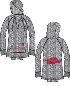 Arkansas Razorbacks Womens Burnout Pullover Hoody