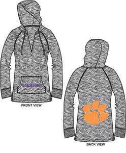 Clemson Tigers Womens Burnout Pullover Hoody