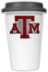 NCAA Texas A&M Aggies Ceramic Cup w/Black Lid