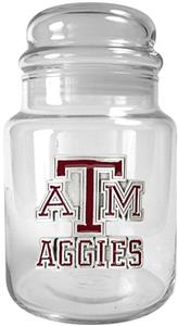 NCAA Texas A&amp;M Aggies Glass Candy Jar