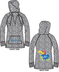 Kansas Jayhawks Womens Burnout Pullover Hoody