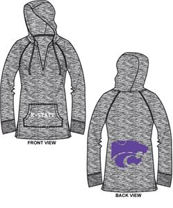 Kansas State Womens Burnout Pullover Hoody