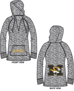 Missouri Tigers Womens Burnout Pullover Hoody