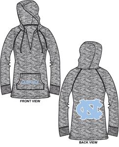 UNC North Carolina Womens Burnout Pullover Hoody