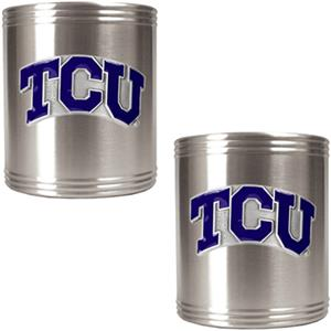 NCAA Texas Christian Stainless Steel Can Holders