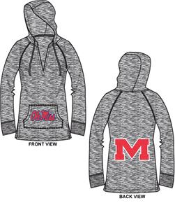 Ole Mississippi Womens Burnout Pullover Hoody