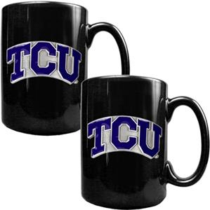 NCAA Texas Christian Ceramic Mug (Set of 2)