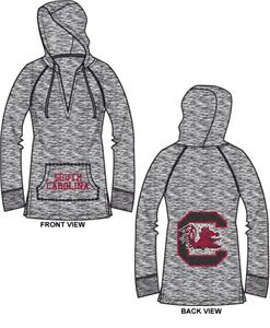 South Carolina Univ Womens Burnout Pullover Hoody