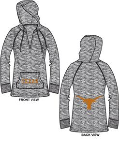 Texas Longhorns Womens Burnout Pullover Hoody