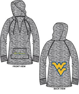 West Virginia Womens Burnout Pullover Hoody