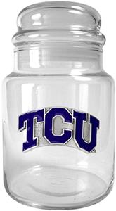 NCAA Texas Christian Horned Frogs Glass Candy Jar