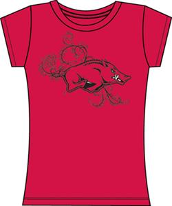 Emerson Street Arkansas Razorbacks Womens Slub Tee