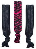 Fuchsia Zebra No-Tug Elastic Hair Ties/Bracelets