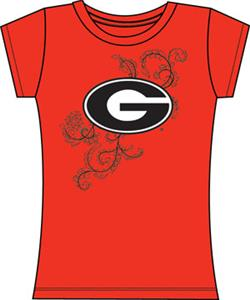 Emerson Street Georgia Bulldogs Womens Slub Tee