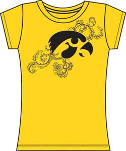 Emerson Street Iowa Hawkeyes Womens Slub Tee