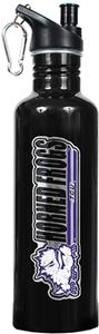 NCAA Texas Christian Black Water Bottle