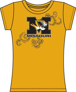 Emerson Street Missouri Tigers Womens Slub Tee