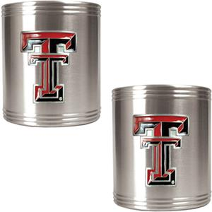 NCAA Texas Tech Stainless Steel Can Holders