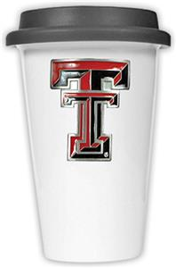 NCAA Texas Tech Ceramic Cup w/Black Lid