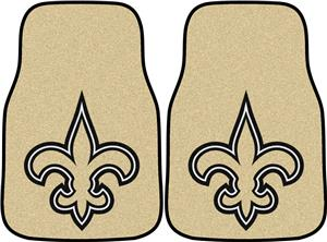 Fan Mats New Orleans Saints Carpet Car Mats