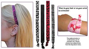 Animal Print/Damask Print Elastic Headband SET