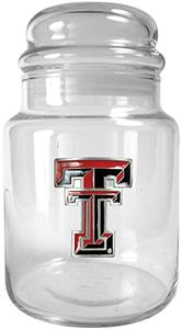 NCAA Texas Tech Red Raiders Glass Candy Jar