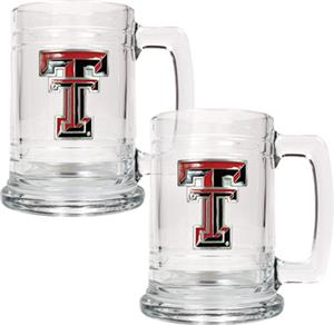 NCAA Texas Tech Red Raiders 15oz Glass Tankard