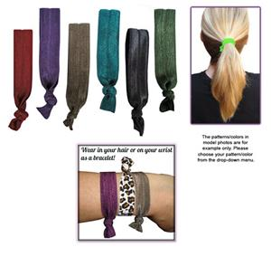 Jewel Tone No-Tug Elastic Hair Ties/Bracelets SET