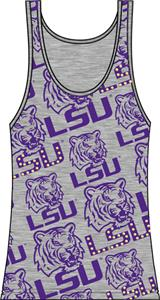 LSU Tigers Womens Rhinestone Tank Top