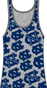 UNC North Carolina Womens Rhinestone Tank Top