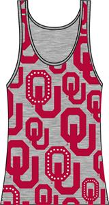 Oklahoma Sooners Womens Rhinestone Tank Top