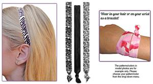 Zebra Print/Paisley Print Elastic Headband SET