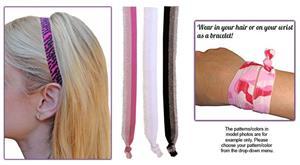 Glitter Fringe Elastic Headband SET