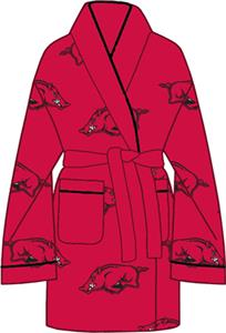 Arkansas Razorbacks Womens Fleece Bath Robe