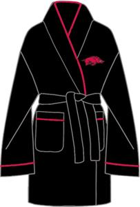 Arkansas Razorbacks Solid Womens Fleece Bath Robe