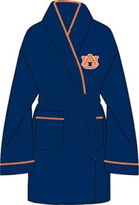 Auburn Tigers Solid Womens Fleece Bath Robe