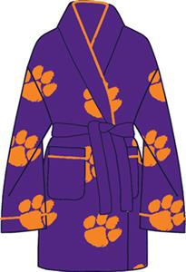 Clemson Tigers Womens Fleece Bath Robe