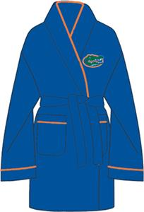 Florida Gators Solid Womens Fleece Bath Robe