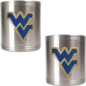 NCAA West Virginia Stainless Steel Can Holders