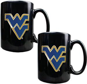 NCAA West Virginia Ceramic Mug (Set of 2)