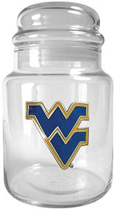 NCAA West Virginia Mountaineers Glass Candy Jar