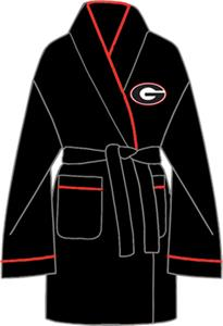 Georgia Bulldogs Solid Womens Fleece Bath Robe