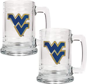 NCAA West Virginia Mountaineers 15oz Glass Tankard