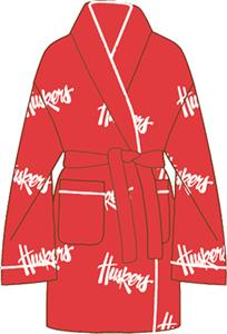 Nebraska Cornhuskers Womens Fleece Bath Robe