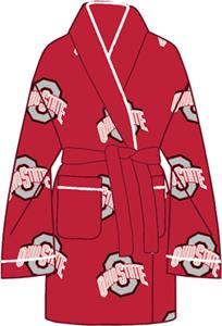 Ohio State Womens Fleece Bath Robe