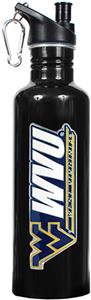 NCAA West Virginia Mountaineers Black Water Bottle
