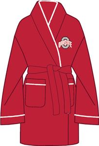 Ohio State Solid Womens Fleece Bath Robe