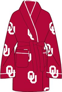 Oklahoma Sooners Womens Fleece Bath Robe